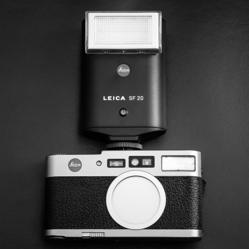 And here the small Leica flash SF20 mounted on the camera, it make it look even smaller! Mind you, the external flash for some reason will not work in TTL mode but still, works just as fine in automatic mode since it will read from the camera the shutter speed, f stop and subject distance.