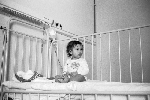 My baby girl at the hospital. I took a series of photos from this position at 1:2.4 and only a couple came out perfectly in focus. Leica CM loaded with Agfa APX 100